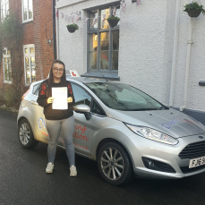 Congratulations Megan Selby passed your driving test 18/12/2017 at maidstone test centre 1st time. You were also my first student to take the new driving test! Well done.